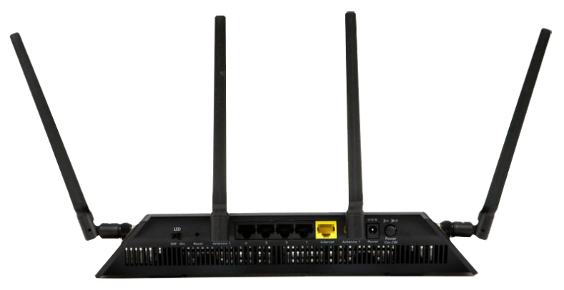 Netgear R7800 DD-WRT FlashRouter Back